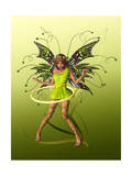 Green Butterfly Fae Art by Atelier Sommerland