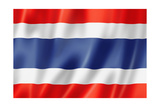Thai Flag Prints by  daboost