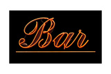 Neon Bar Sign Posters by Mr Doomits
