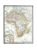 Old Karte von Afrika Poster von  Tektite