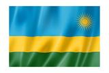 Rwanda Flag Posters af daboost