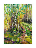 Road To Autumn Wood Poster by  balaikin2009