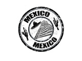 Mexico Stamp Prints by  radubalint