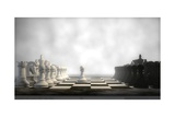Chess Board In Fog Prints by Kostyantyn Ivanyshen