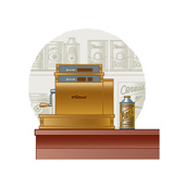 Retro Cash Register Prints by Oleg Iatsun