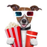 3D Glasses Movie Popcorn Dog Prints by Javier Brosch