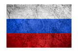 Flag Of Russia Print by Miro Novak