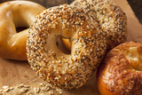Healthy Organic Whole Grain Bagel Photographic Print by  bhofack22