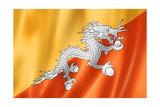 Bhutan Flag Posters by  daboost