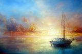 Seascape Pier Poster by  yakimenko