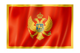 Montenegro Flag Poster by  daboost