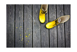 Yellow Boots Poster by  talsen