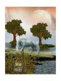 Fantasy Landscape Póster por  justdd