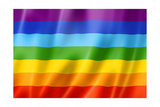 Rainbow Peace Flag Print by  daboost