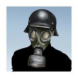 Wwii Gas Mask Premium Giclee Print by  anatomyofrockthe
