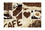 Coffee Mosaic Print by  duallogic