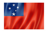 Samoa Flag Print by  daboost