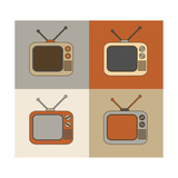 Retro Tv Set Icons Art by  YasnaTen