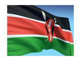 Flag Of Kenya Posters by  bioraven