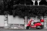 Red Scooter Reprodukcja zdjęcia autor seanbun