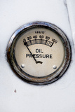 An Old Retro Steampunk Style Oil Pressure Gauge Prints by  leaf