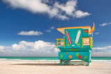 Miami Beach Florida, Lifeguard House Photographic Print by  Fotomak