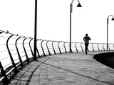 Lone Jogger Photographic Print by  RobWilson