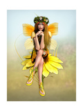 Yellow Daisy Fay Prints by Atelier Sommerland