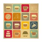 Coffee Labels Kunstdrucke von  elfivetrov