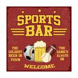 Sport Bar Poster Reprodukcje autor radubalint