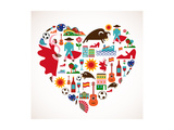 Spain Love Reproduction giclée Premium par  Marish
