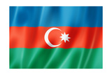 Azerbaijani Flag Prints by  daboost