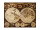 Vintage Map Prints by  Kuzma