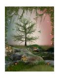 Fantasy Landscape Print by  justdd