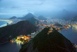 Rio De Janeiro By Night, Brazil Photographic Print by  xura