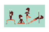 Yoga Workout Print by  yemelianova