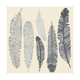 Feather Set Prints by  Katyau
