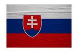 Slovakia Flag Posters by igor stevanovic
