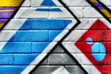 Graffiti Image On Brick Wall Prints by  sammyc