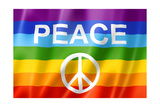 Rainbow Peace Flag Prints by  daboost