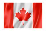 Drapeau du Canada Reproduction giclée Premium par  daboost