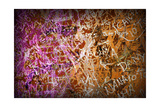 Colorful Grunge Background With Graffiti And Writings And A Slight Vignette Prints by  ccaetano