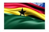 Flag Of Ghana Plakater af Yuinai