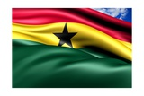 Flag Of Ghana Prints by  Yuinai