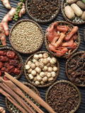 Spice Collection on Black Background Posters by  isaxar