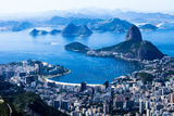 Rio De Janeiro, Brazil. Suggar Loaf And Botafogo Beach Viewed From Corcovado Photographic Print by Mariusz Prusaczyk