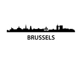 Skyline Brussels Prints by  unkreatives