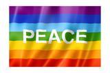 Rainbow Peace Flag Reproduction giclée Premium par  daboost
