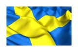 Flag Of Sweden Prints by  Yuinai