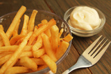 French Fries With Mayonnaise Photographic Print by pink candy